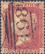 1857 1d Rose-red SG40 Plate 41 'GE' CV